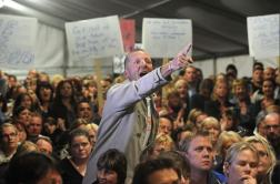 angry public meeting