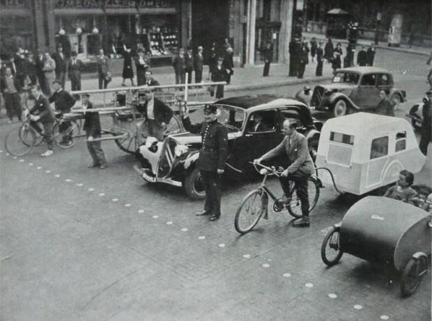 europe mixed traffic circa 1950