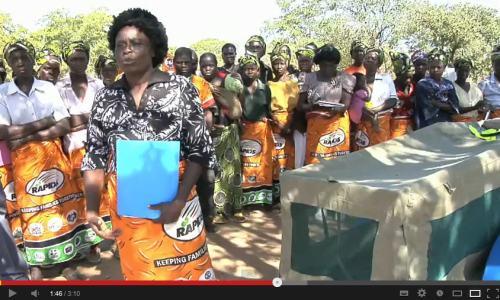 africa - Zambia - women bicycle ambulence