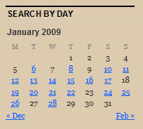 Search calender