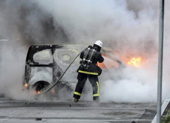 Sweden car burning