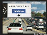 USA carpooling with highway sign