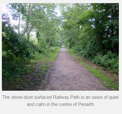UK Wakes Penarth railway path