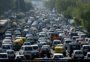 Brazil Sao Paulo Traffic congestion