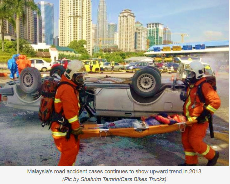 road accident in malaysia In malaysia, the number of accidents and deaths in 2007 was extracted from the miros road accident analysis and database system (m-roads) which was compiled from the original data kept by the royal police of malaysia (rpm.