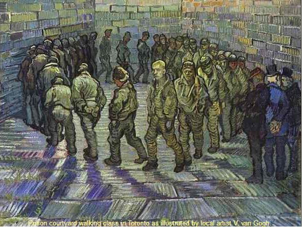 painting van gogh prison courtyard