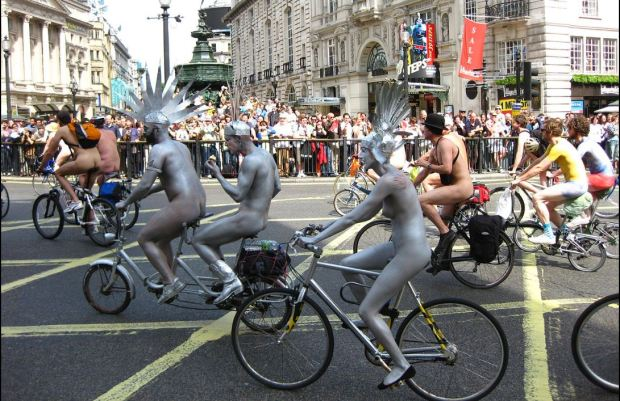 World Naked Bike Ride Zaragoa Spain