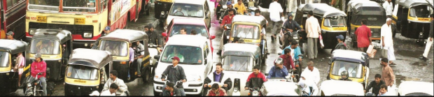 India Pune traffic jam - for header