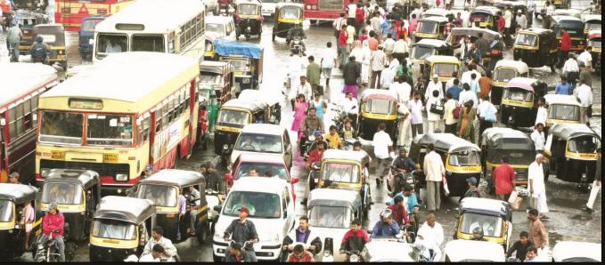 India Pune traffic jam