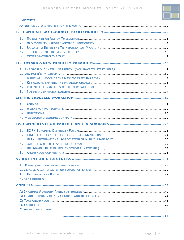 ECMT Contents page - final of 24apr15