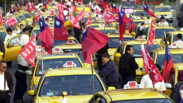 taiwan Uber taxi demonstration