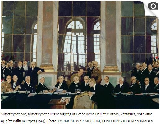 economics Versailles Treaty signing dignataries