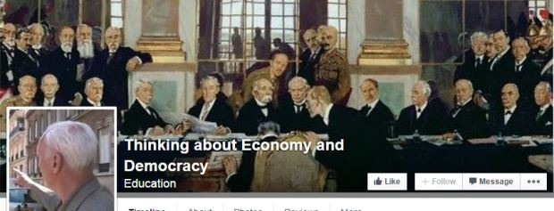 thinking about economy - fb top page - versailles treaty