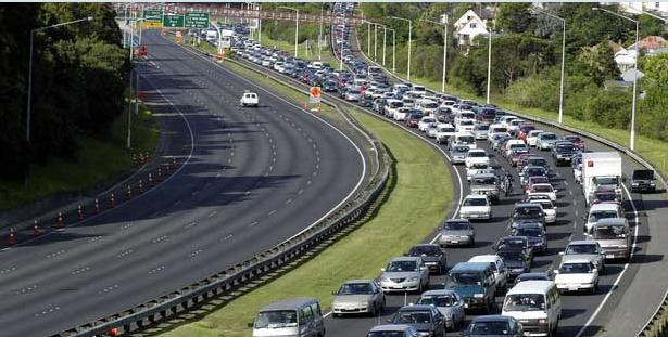 New Zealand - Auckland - rush how traffic