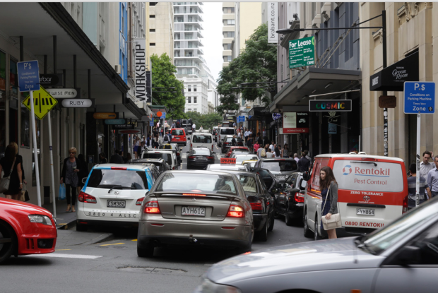 New Zealand - Auckland -street traffic