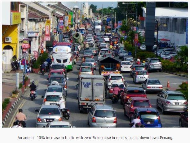 Penang cener traffic growth