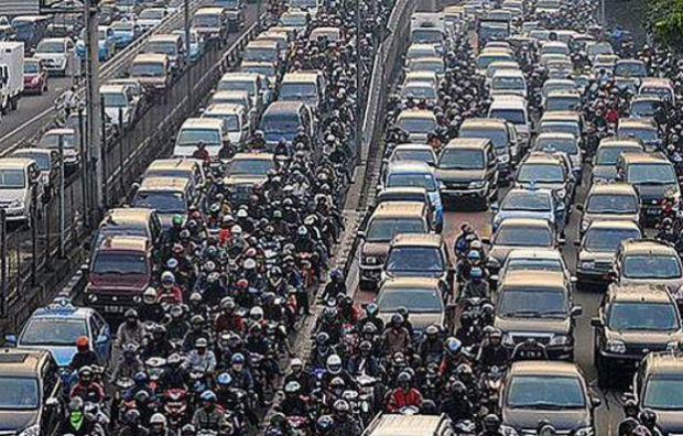 indonesia-jakarta-traffic-on-following-monday